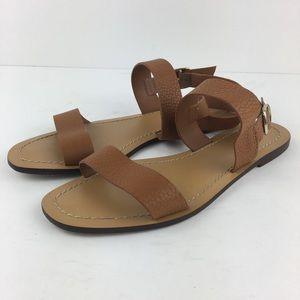 J. Crew Tan Leather Sandals